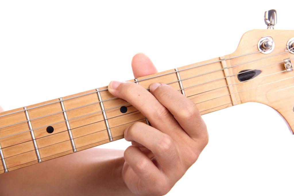 G-Dur Akkord auf Gitarre